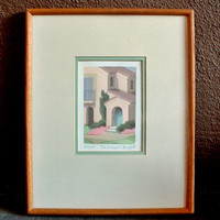 SALE Artist WILLIAM BUFFETT Serigraph Print Framed Original Silkscreen Art Signed Numbered Titled The Retreat