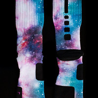 Thesockgame.com — Cotton Candy Galaxy Elites - Custom NIke Elite Socks