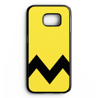 Charlie Brown Yellow Black Chevron Samsung Galaxy S6 Edge Case