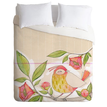 Cori Dantini Little Bird On A Flowery Branch Duvet Cover