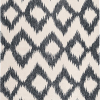 Frontier Collection 100% Wool Area Rug in Ink and Winter White design by Surya