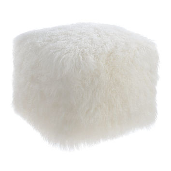 Tibetan Sheep Pouf - Free Shipping Today - Overstock.com - 20678471 - Mobile