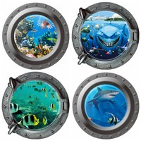 3D Wall Stickers Submarine Portholes Vinyl Sticker for Kids Rooms Nursery Room Decoration Home Decor Mural Wallpaper