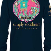 """Simply Southern Youth """"Let go, let God"""" tee - Navy"""