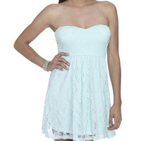 Sweetheart Tube Lace Dress | Shop Dresses at Wet Seal