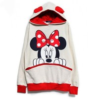 Minnie Mouse Sweater with Cute Ears