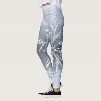 ice crystal snowflake leggings