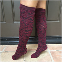 Mulberry Texture Boot Socks - Socks