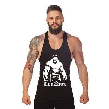 Conquer Bodybuilding Tank Top - Men's Sleeveless Fitness Shirt