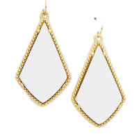 Diamond Bauble Earrings in White