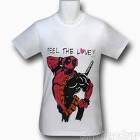 Deadpool Feel The Love 30 Single T-Shirt
