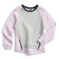 Girl's Vince Colorblock Fleece Sweatshirt,