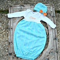 Baby Gown, baby Onesuit, Onesuit Dress, Onesuit Gown, Bring Home outfit by Angelivy Designs
