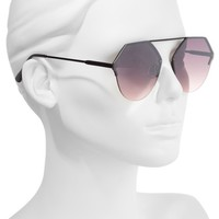 BP. Metal Flat Brow Bar Geometric Sunglasses | Nordstrom