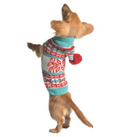Chilly Dog Peppermint Hoodie Dog Sweater