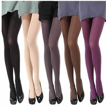 Women's Hosiery 120D Color Step Foot Seam Patterned Tights
