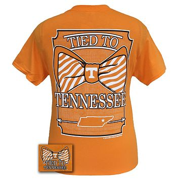 Tennessee Vols Volunteer Tied To Prep Bow Girlie Bright T Shirt