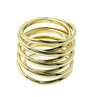 Gold Double Coil Ring