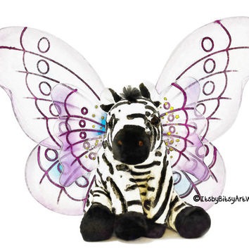 Zebra with Wings Art Print, Digital Watercolor Decor-Digital File Only, INSTANT DOWNLOAD Nursery Art, Baby Kids Childs Room Bedroom