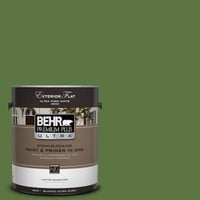 BEHR Premium Plus Ultra, 1-gal. #420D-7 Dill Pickle Flat Exterior Paint, 485301 at The Home Depot - Tablet