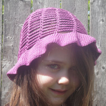 summer bucket hat, beach hat, crochet womens hat free USA shipping!