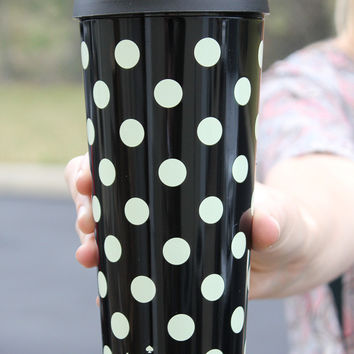 Kate Spade Thermal Mug - Black Dots