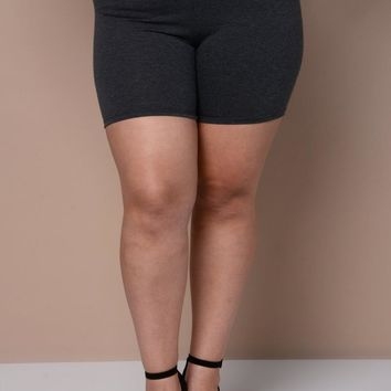 Charcoal Chic Plus Size Short
