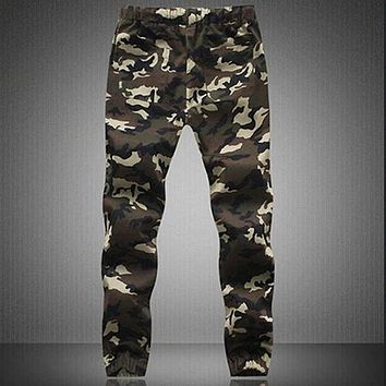 2016 Men's Camouflage Camo Casual Pants Boy Joggers  Sweatpants Trousers