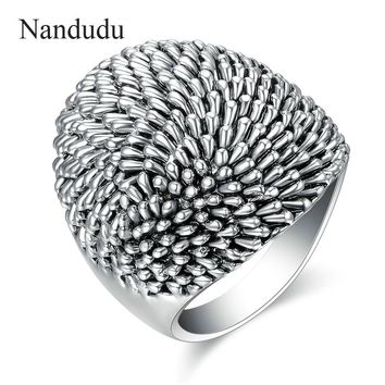 Nandudu New Arrival Hedgehog Style Ring for Party Men Women Unisex Irregular Metal Rings Accessories Fashion Jewelry Gift R1217