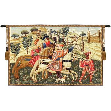 Hunting Scene I European Tapestry