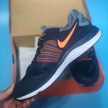 DCCK N479 Nike Dual Fusion X Light Breathable Running Shoes Dark Blue Orange
