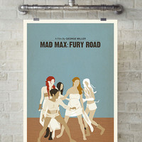 Mad Max: Fury Roads, Brides, Tom Hardy, Charlize Theron, Minimal Movie Poster.
