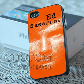 Ed Sheeran Face - Rubber or Plastic Print Custom - iPhone 4/4s, 5 - Samsung S3 i9300, S4 i9500 - iPod 4, 5