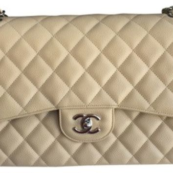 Chanel Jumbo Double Flap Caviar Shw Shoulder Bag 14% off retail