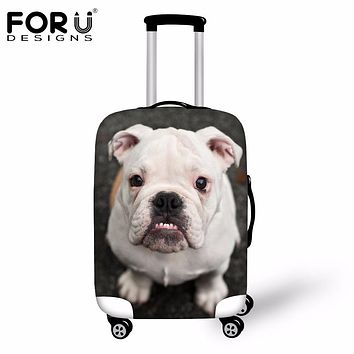 FORUDESIGNS Travel Trolley Accessories 3D Dog Elastic Waterproof Luggage Set Cover for 18-30 Inch Suitcase Protective Dust Cover