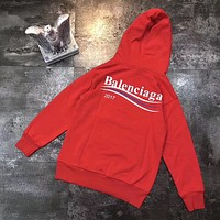 Balenciaga Woman Men Fashion Long Sleeve Top Pullover Sweater Hoodie