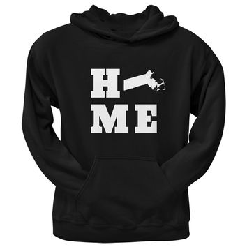 Massachusetts Home Black Adult Hoodie