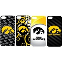 Set of 4 University of Iowa Hawkeyes Clear iPhone 5 Hard Case - (Design #2, #6, #7, #8)