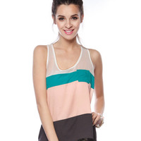 Papaya Clothing Online :: COLORBLOCKED HIGH-LOW TOP