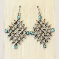 Turquoise Stone Oasis Earrings