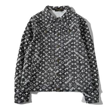 Boys & Men Louis Vuitton X Supreme Fashion Casual Cardigan Jacket Coat