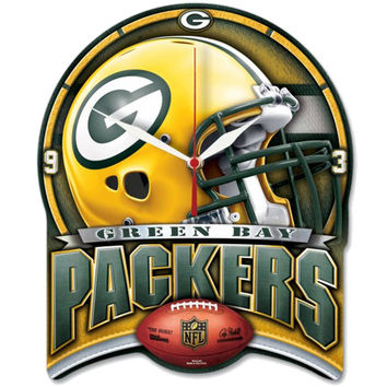 NFL Green Bay Packers High Definition Plaque Clock