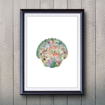 Seashell Print - Home Living - Seashell Ocean Animal Painting - Wall Art - Wall Decor - Home Decor, House Warming Gifts
