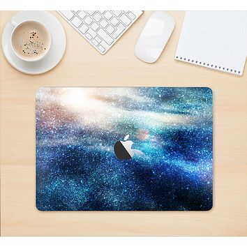 """The Blue & Gold Glowing Star-Wave Skin Kit for the 12"""" Apple MacBook"""