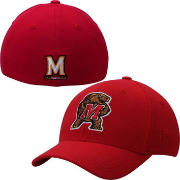 Maryland Terrapins Top of the World Memory 1Fit Flex Hat – Red