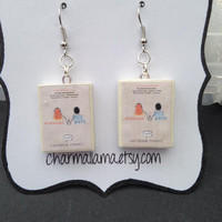 Eleanor and Park book charm earrings