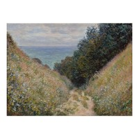 Road at La Cavee Pourville by Claude Monet