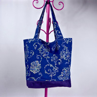 Reversible Tote Bag, Market Bag, Reusable Grocery Bag, Eco Friendly Shopping Bag, Carry All Tote Bag, Market Tote, Washable Grocery Bag Gift