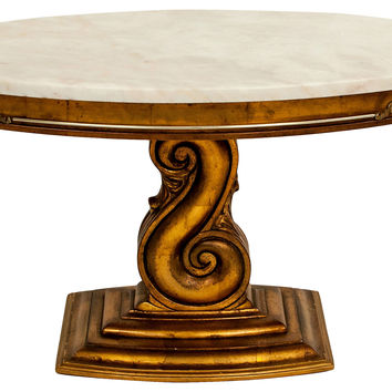Midcentury  Marble-Top Side Table