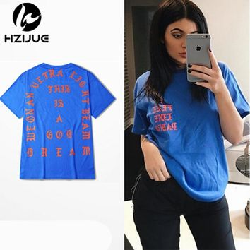 2016 SUMMER Unisex Season 3 I Feel Like Pablo TEE The Real Life Of Pablo kanye Tshirt red blue black white S-XXXL